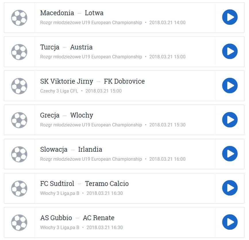 mecze piłki nożnej online