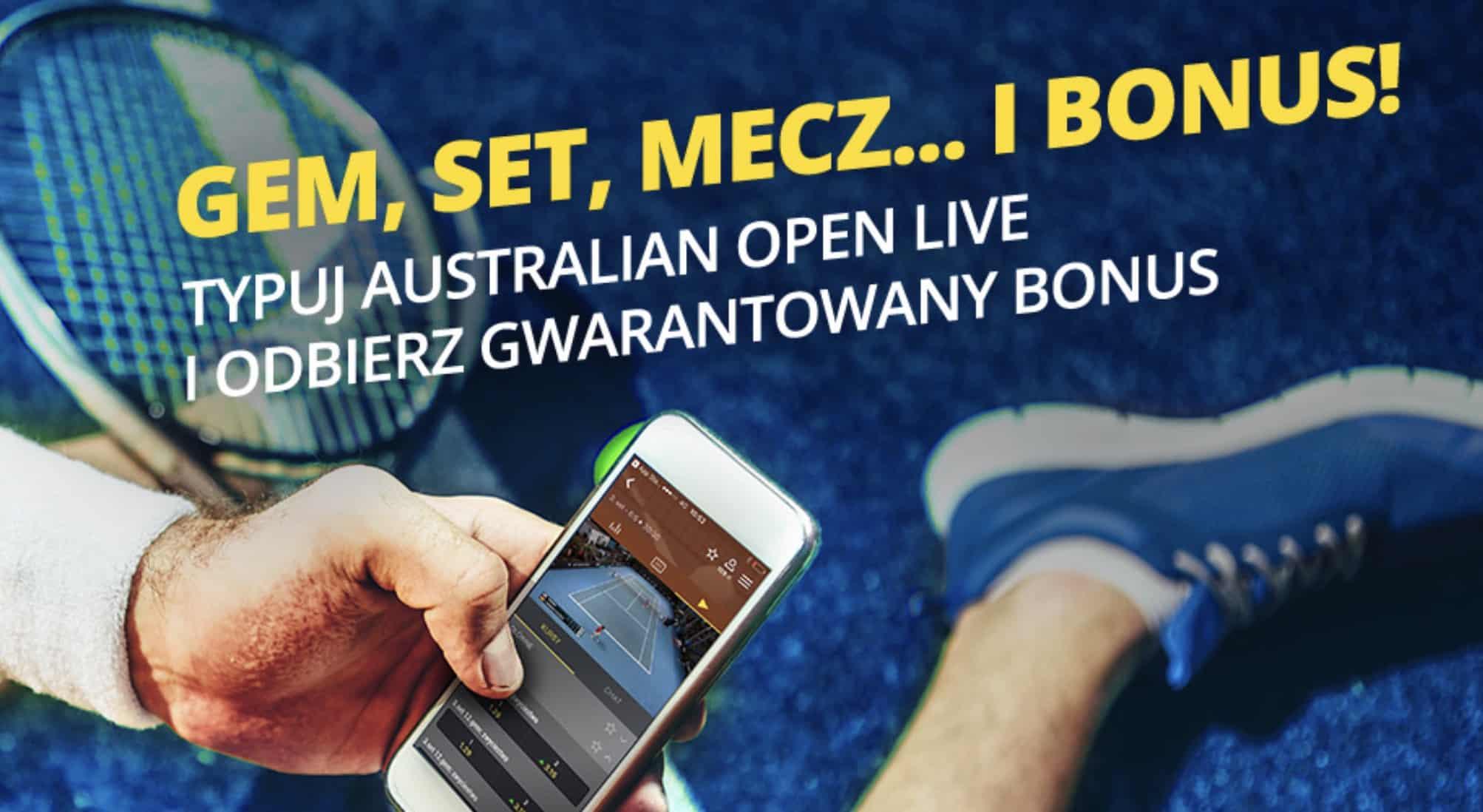 Fortuna na Australian Open 2019. Bonus 20 PLN dla graczy!