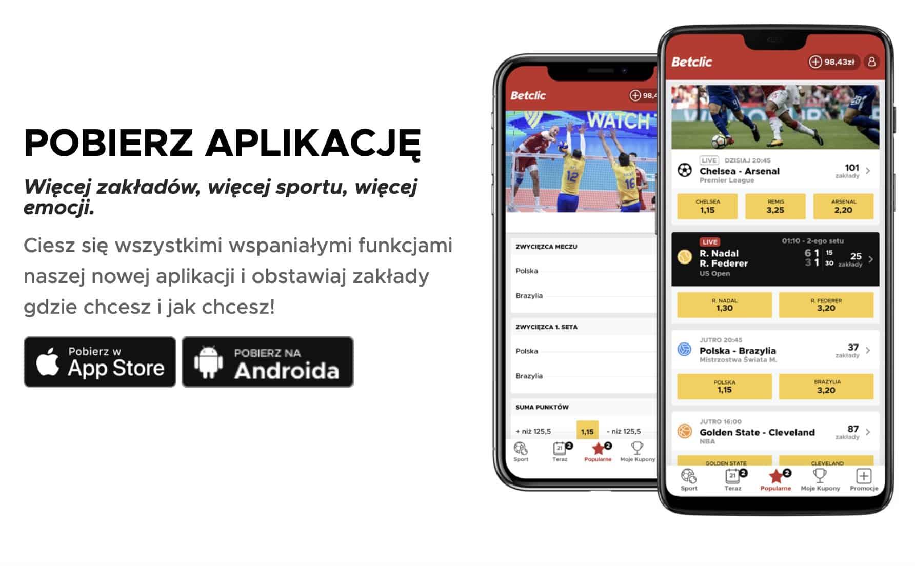 betclic polska na telefonie