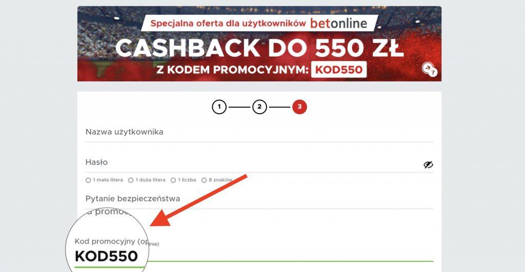 Betclic kod promocyjny. KOD550 - kasa na start to nawet 550 PLN! Jedyny taki cashback w Polsce!